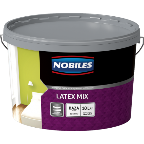 Nobiles Latex Mix Mat Baza Biała - 10L