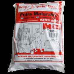 Folia Malarska Extra Gruba CF-890 4m x 5m Czerwona