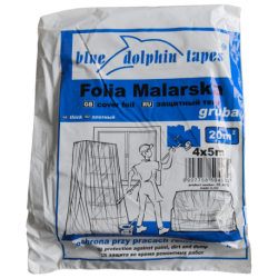 Folia Malarska Gruba CF-380 4m x 5m Niebieska