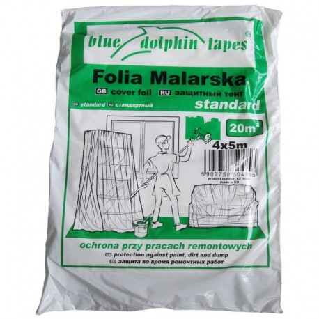 Folia Malarska Standard CF-4 4m x 5m Zielona