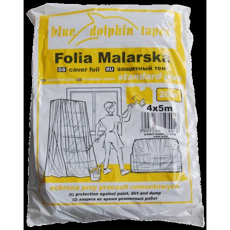 Folia Malarska Standard Plus CF-250 4m x 5m Żółta
