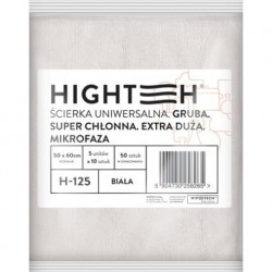 Highteh Ścierka Mikrofaza Gruba Biała 50x60cm