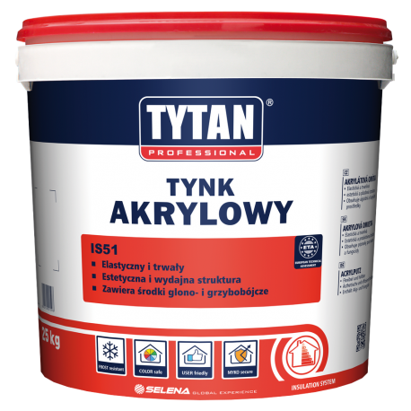 Tytan Tynk Akrylowy IS51 B15 - 25kg